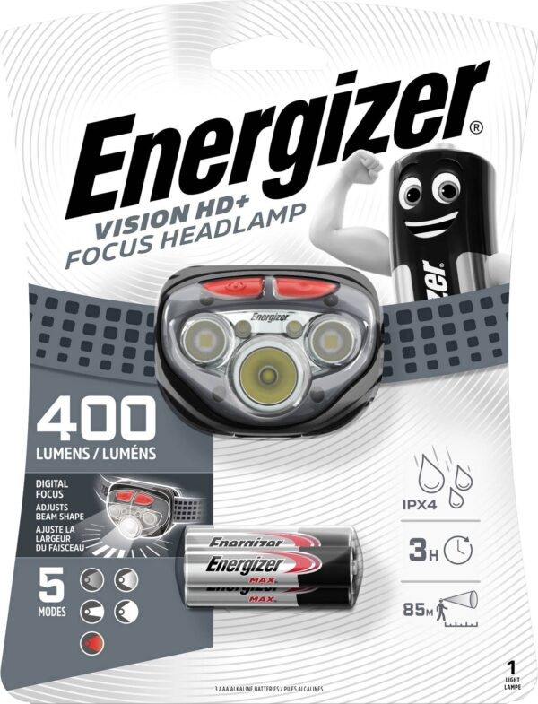 Energizer Headlamp Vision HD+Focus LED